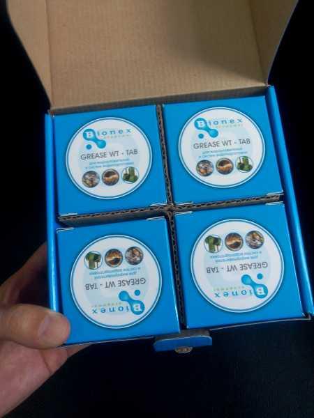Биопрепарат для жироуловителей Бионекс Грис ВТ Таб (Bionex Grease WT Tab)